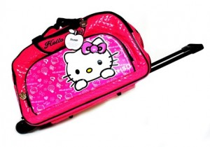 tas travel trolly hk glossy pink