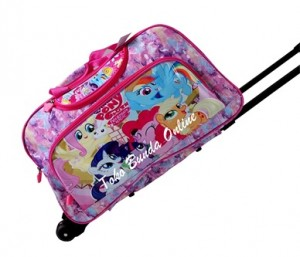 tas trolly travelling little pony pink