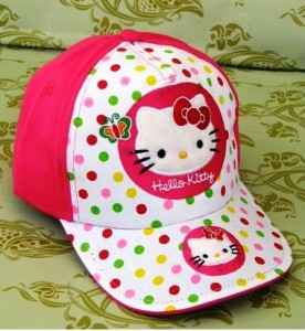 topi anak karakter hello kitty