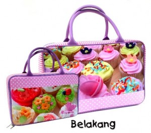 travel bag tenteng cupcake new rz