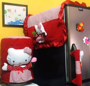 homeset 3 dimensi hello kitty garis