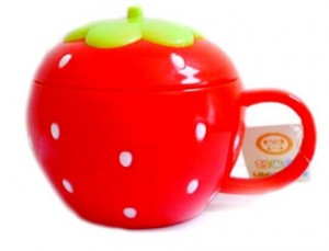 Mug melamin strawberry