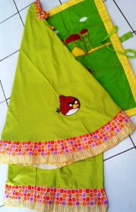 Mukena Anak Karakter Angry Bird Hijau 192x300 Mukena Anak Karakter