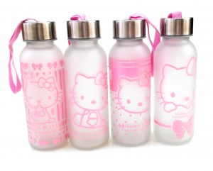botol minum kaca hello kitty