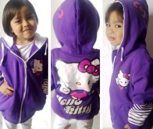 Jaket Anak Hello Kitty Purple
