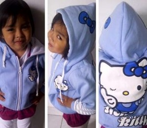 Jaket Anak Perempuan Hello Kitty Baby Blue