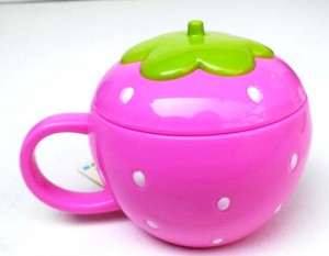 mug strawberry pink 300x233 Set Makan Lucu