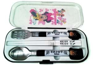 Sendok Set Minnie Hitam
