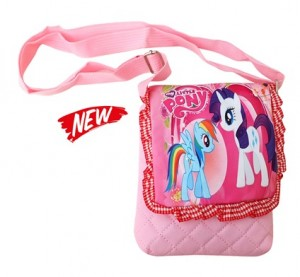 tas selempang little pony pink renda 2