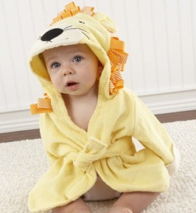 handuk bayi lucu , top baby bathrob lion
