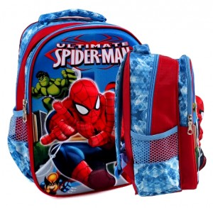 tas ransel 3d spiderman ultimate biru sd rz