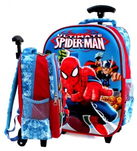 tas ransel trolly 3d spiderman biru sd rz