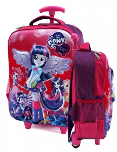 tas ransel trolly 3d little pony pink