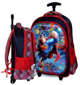 tas ransel trolly superman merah 3d
