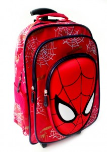 tas trolly ransel spiderman muka merah
