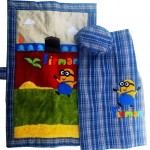 sarung minion biru new