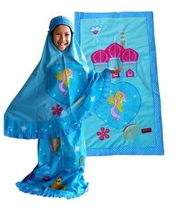 mukena little pony biru