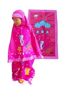 mukena little pony pink 2