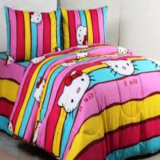Bed Cover dan Seprei hello kitty pelangi