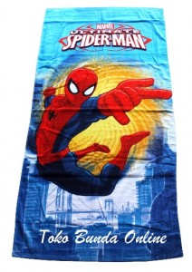 handuk spiderman ultimate biru
