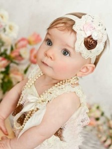 headband Cream TB 04 225x300 Cute Headband   Bandana anak Lucu