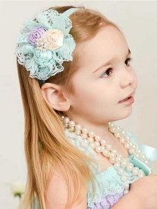headband blue lace TB 02 225x300 Cute Headband   Bandana anak Lucu