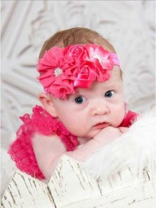headband hot pink TB 05 225x300 Cute Headband   Bandana anak Lucu