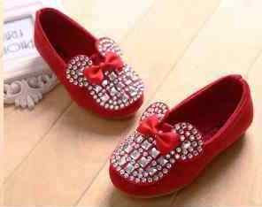 sepatu amak minnie blink shoes Merah size 21,22,23,24,25.