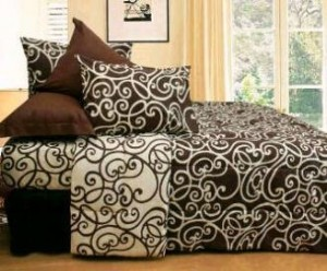 seprei dan bedcover tatto cream mix