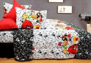 sprei dan bedcover angry birds silhouette