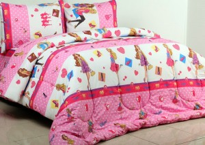 sprei dan bedcover barbie fashion
