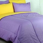 sprei dan bedcover polos lillac kuning
