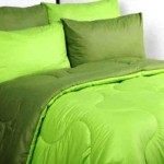 sprei dan bedcover polos olive lime