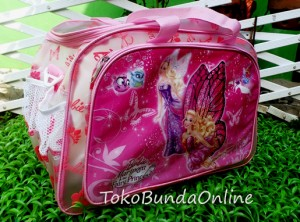 tas travel transparan barbie