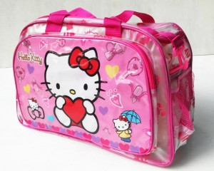 tas travel transparan hk pink