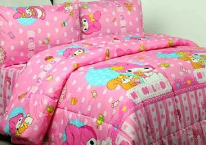 sprei dan bedcove MY MELODY PINK