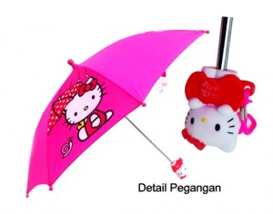 payung hello kitty kepala 3 d