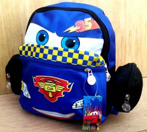 ransel cars piston cup biru