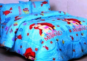 seprei dan bedcover a little mermaid
