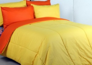 sprei dan bed cover orange kuning