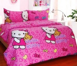 sprei dan bedcover hello Kitty Ribbon Pink 300x255 Tutup Galon 3 Dimensi