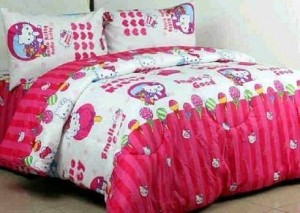 sprei hello kitty candy