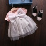 baju dress abu2 peach bayi