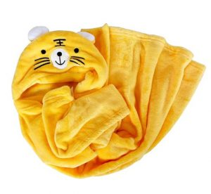 selimut baby tiger kuning