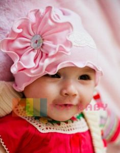 top baby cute hat pink
