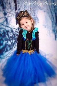 dress anna frozen hitam