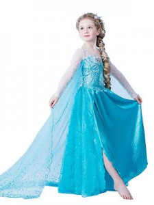 dress elsa jubah new