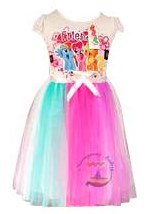 dress little pony rainbow putih