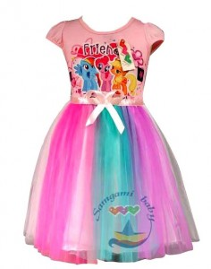 dress samgami little pony rainbow pink