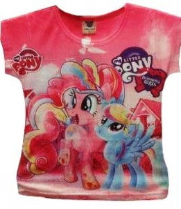 kaos little pony pink '